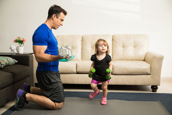 kind fitness oefeningen